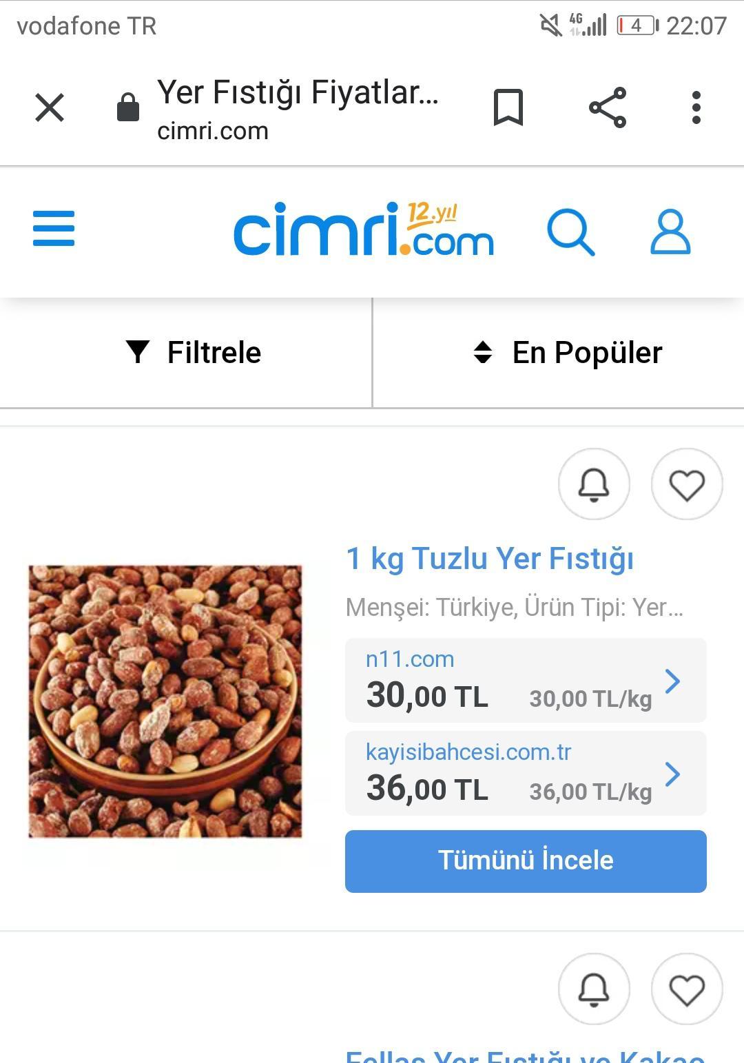 Osmaniye - Kadirli 2021 yılı Yer fıstığı fiyatları - 10448