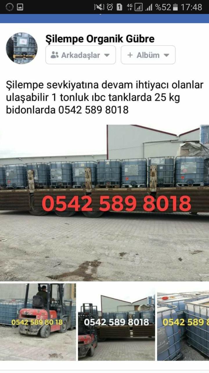 Şilempe - Üretici Muhammet Ünal 1 tl fiyat ile 27.000 kilogram şilempe  satmak istiyor